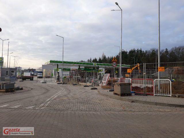 Powstająca stacja BP w Łęczycy - stan na grudzień 2019