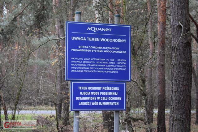 Aquanet - tereny wodonośne - znak informacyjny