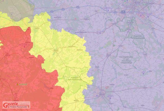Aktualna Mapa ASF - woj. Wielkopolskie i Lubuskie
