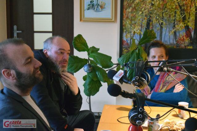 Piotr Milewski ,Tomasz i Natalia Budzyńscy w Radio MPL