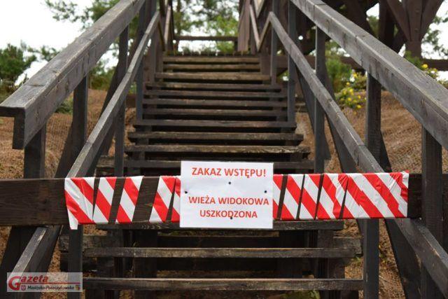 zamknięta wieża widokowa- archiwum GMP