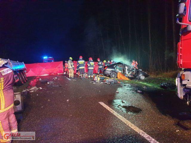 Tragiczny wypadek pod Mosiną fot. Heavy Rescue SGRT OSP Mosina