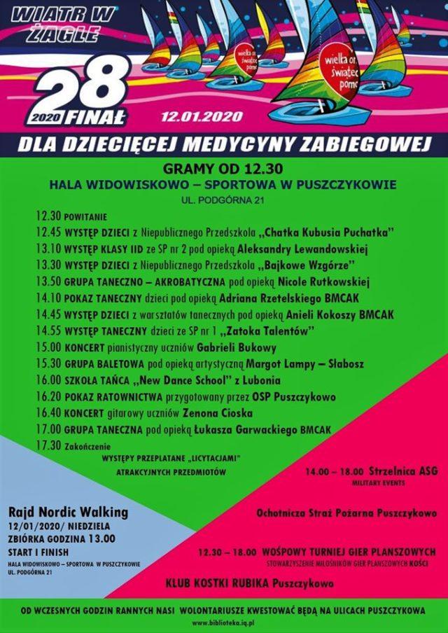 28 Finał WOŚP w Puszczykowie - program