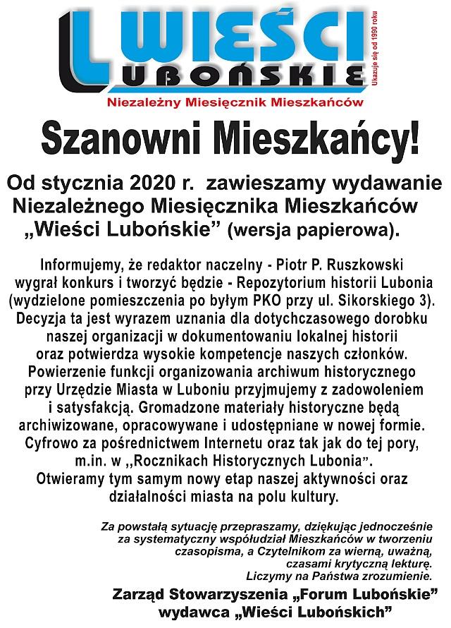 Wieści Lubońskie - gazeta