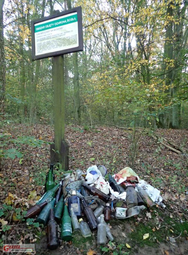 śmieci w Wielkopolskim Parku Narodowym