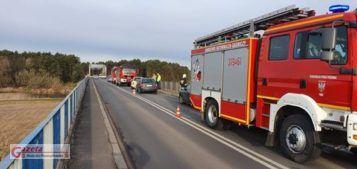 wypadek na moście w Rogalinku