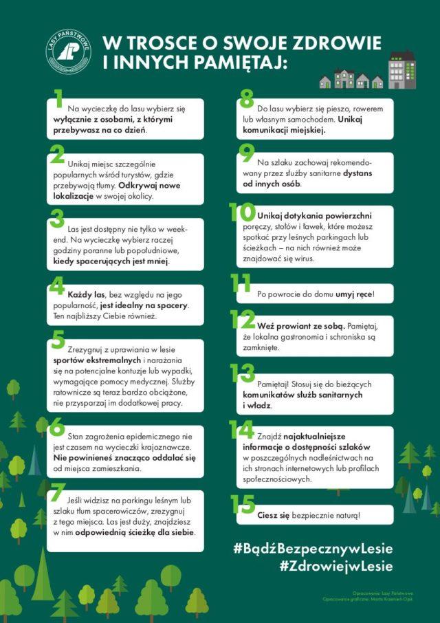 wycieczka do lasu - infografika