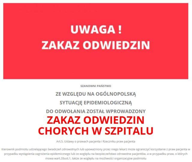 komunikat szpitala w Puszczykowie