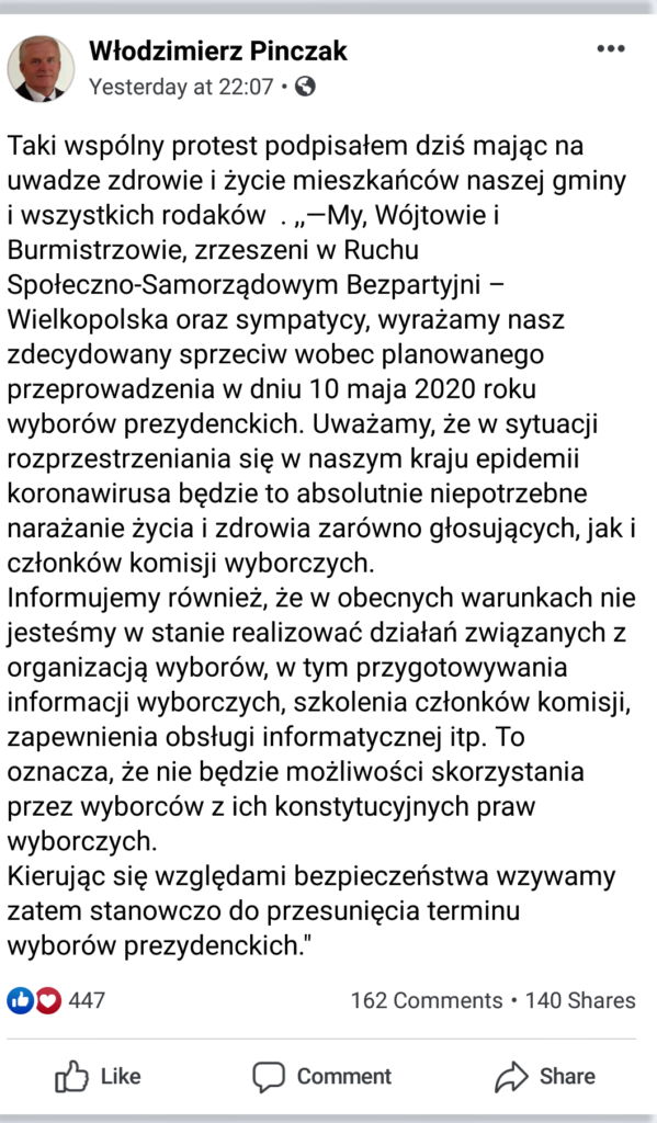 Burmistrz Stęszewa- apel