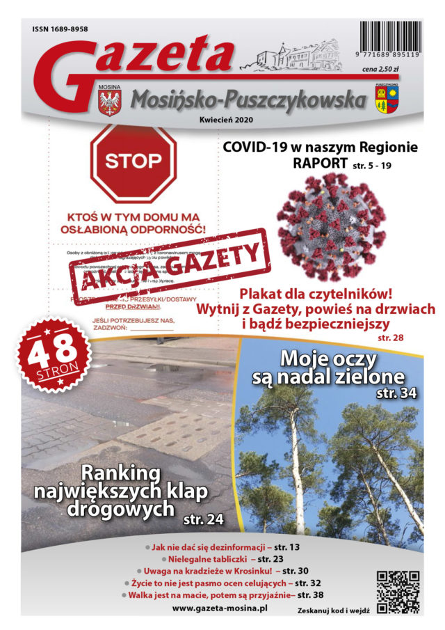 Kwietniowe wydanie Gazety Mosińsko-Puszczykowskiej (pdf)