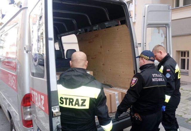 dostawa żywności - straż miejska i straż pożarna