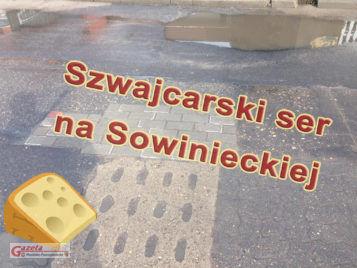 szwjacarski ser na ulicy Sowinieckiej w Mosinie