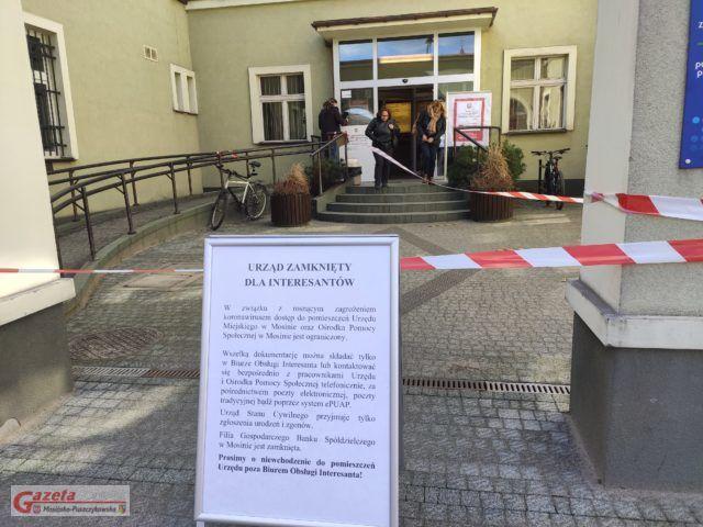 Urząd w Mosinie zamknięty dla interesanótw