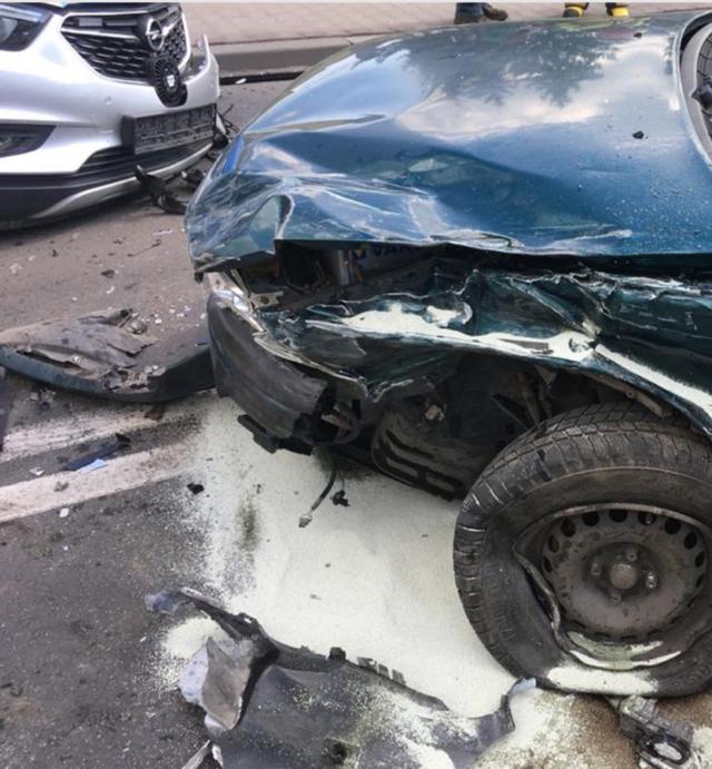 Krosinko: wypadek z udziałem radiowozu