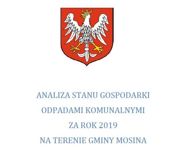 Analiza stanu gospodarki odpadami na terenie gminy Mosina