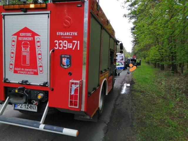 wypadek na ulicy Mocka w Mosinie