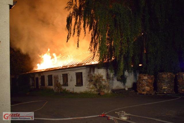 Pożar przy ulicy Śremskiej w Mosinie