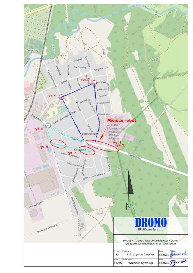 Przebudowa ulicy Sowinieckiej: Projekt czasowej organizacji ruchu