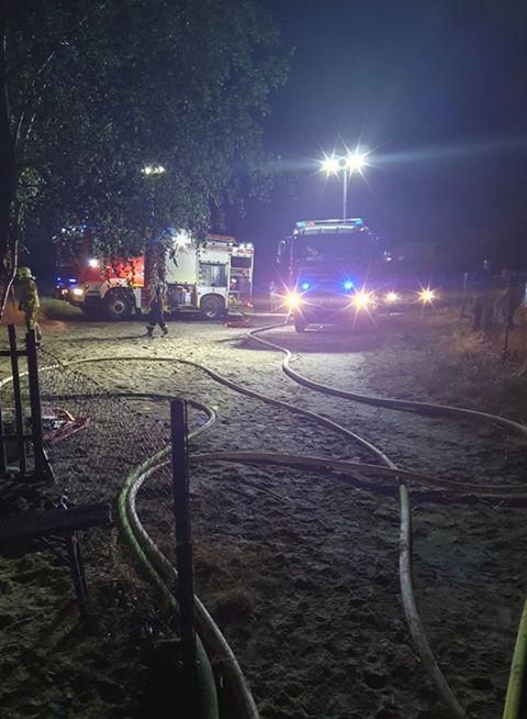 pożar Dymaczewo - akcja gaśnicza