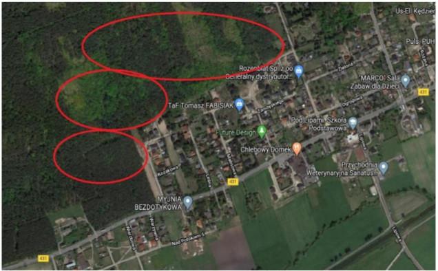 obszar WPN ,w którym działali wolontariusze