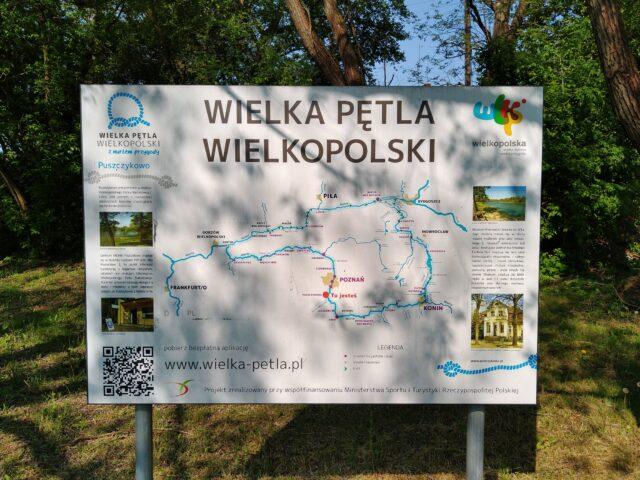 Wielka Pętla Wielkopolski - mapa na przystani w Puszczykowie