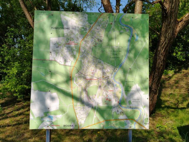 Plan Puszczykowa - mapa