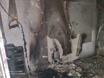 Pożar na ulicy Czereśniowej w Mosinie