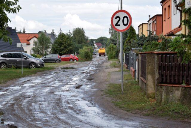 Zalane ulice w Mosinie - Żeromskiego