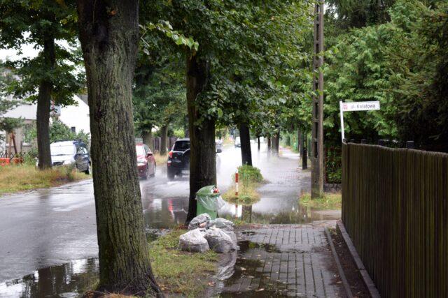 Zalane ulice w Mosinie - Kwiatowa