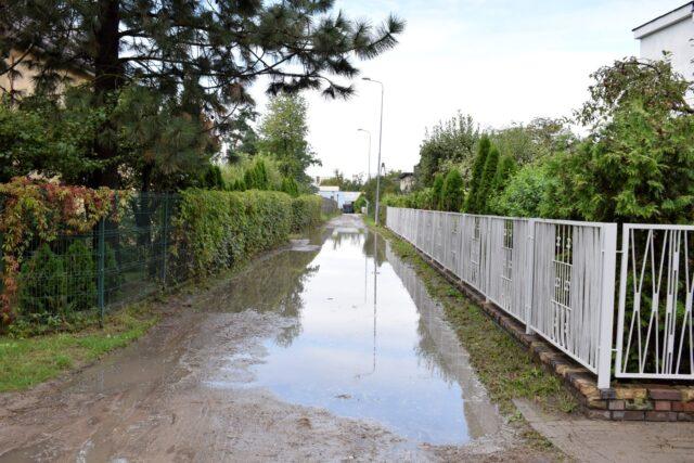 Zalane ulice w Mosinie - Klonowa