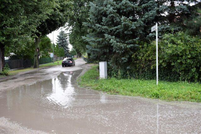 Zalane ulice w Mosinie - Wybickiego