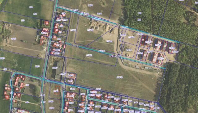 Geoportal Gmina Mosina - planowana ulica Wiewiórcza