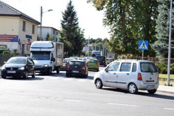 korki w Mosinie - skrzyżowanie ulic Śremskiej i Kolejowej