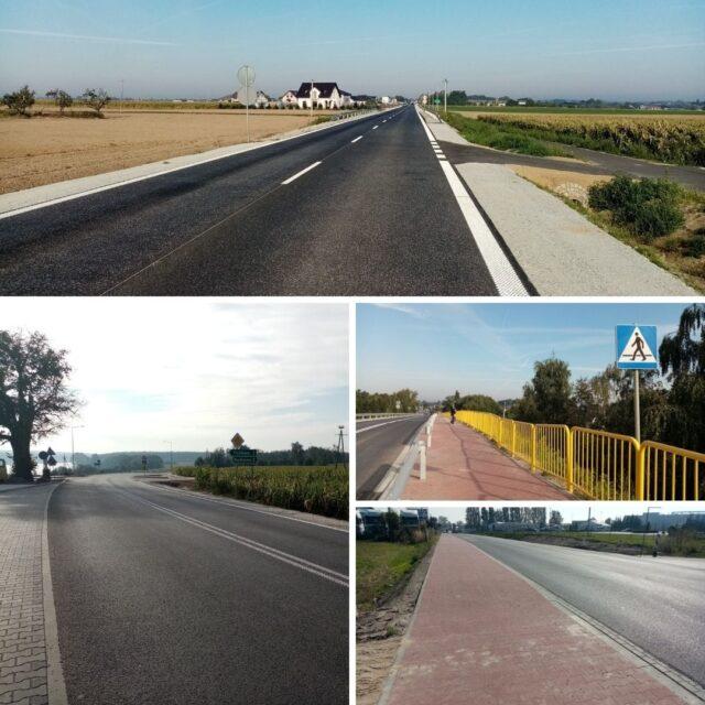 Rozbudowana droga DW 306 w gminach Stęszew i Mosina