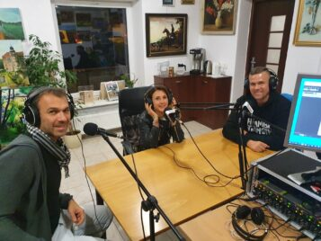Przedstawiciele mosińskiej branży fitness Waldemar Demuth, Magdalena Grajcar oraz Robert Machura