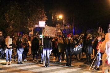 Protest kobiet w Puszczykowie