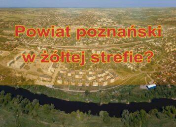 Powiat poznański w źółtej strefie
