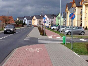 Krosno - dziwna ścieżka rowerowa