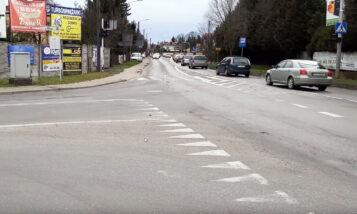 Skrzyżowanie ulicy Mocka i Szosy Poznańskiej w Mosinie