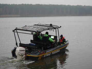 Poszukiwania nad zalewem w Kobylej Górze Fot. Heavy Rescue SGRT OSP Mosina