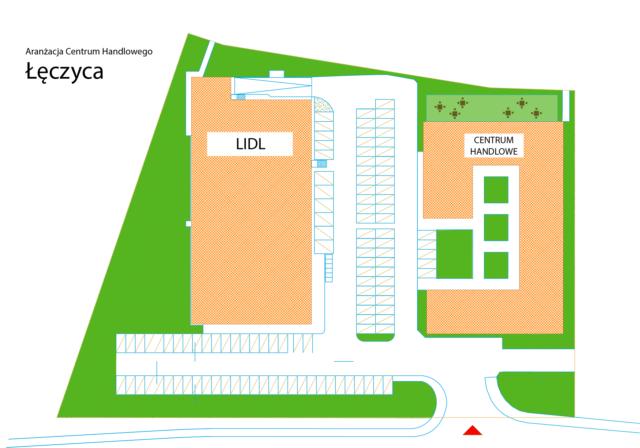 Aranżacja Centrum Handlowego w Łęczycy