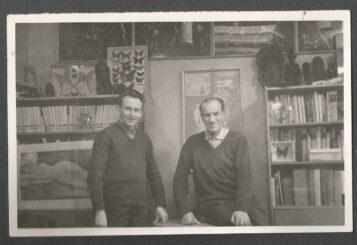 Arkady Fiedler i Zygmunt Pniewski w Muzeum Arkadego Fiedlera