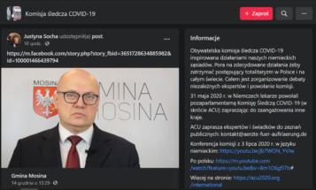 Komisja śledcza COVID-19 Przemysław Mieloch