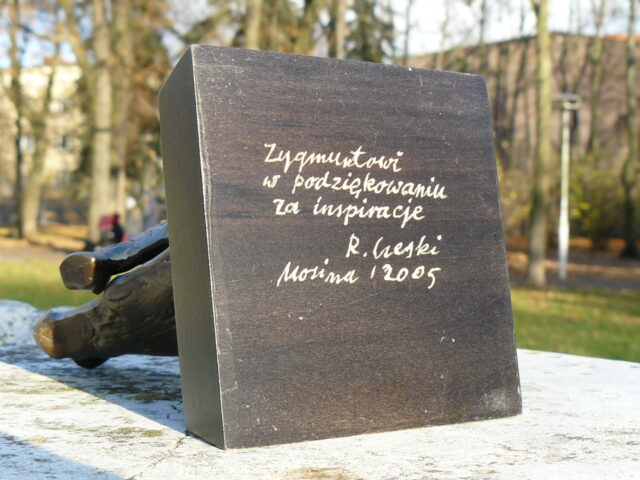 Podziękowanie dla Zygmunta Pniewskiego od Romana Czeskiego (Mosina 2005 r.)