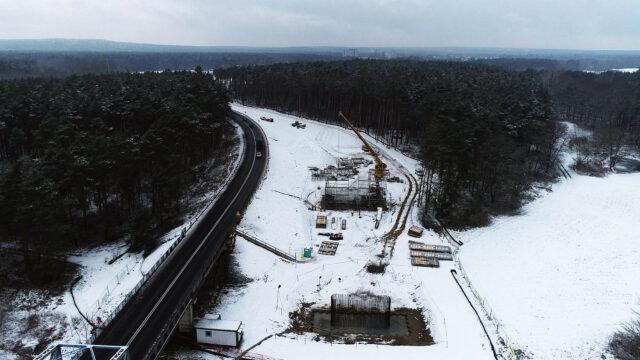 Budowa nowej przeprawy przez Wartę w Rogalinku (gmina Mosina) fot. WZDW