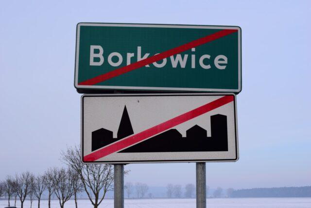 Borkowice - tablica