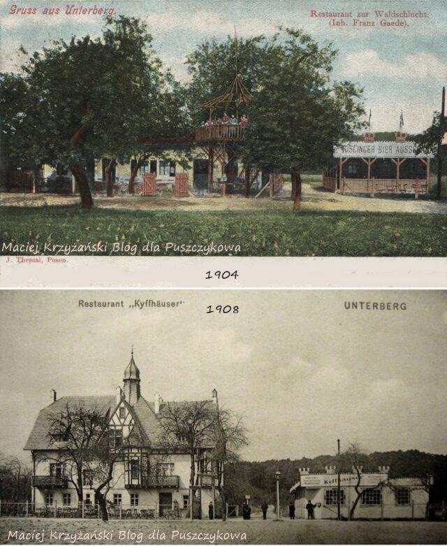 Willa Mimoza, rok 1904 i 1908 - pocztówki ze zbiorów Macieja Krzyżańskiego