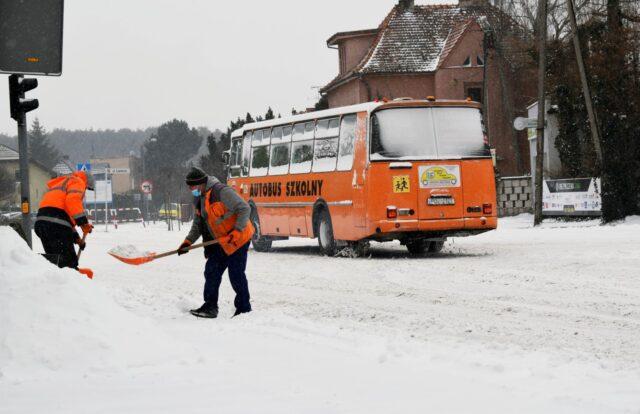 Zima w Mosinie - odśnieżanie