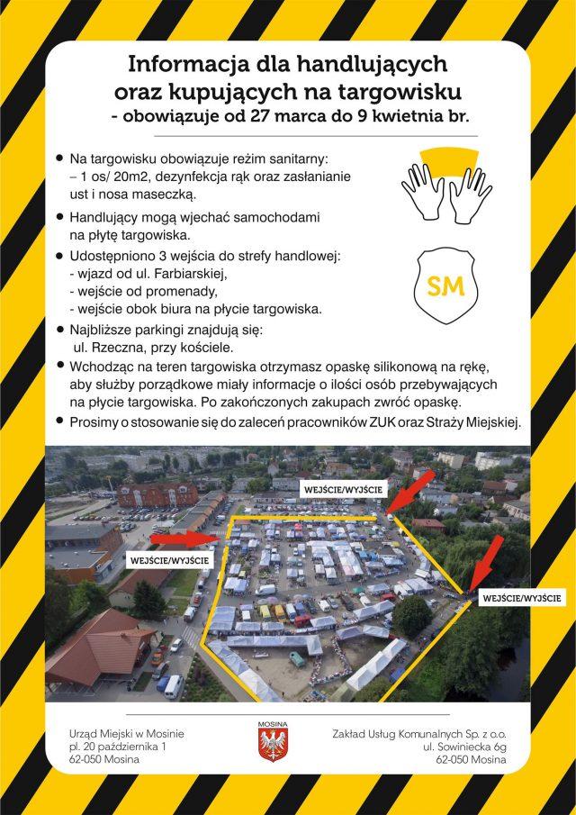 Nowe zasady korzystania z targowiska w Mosinie