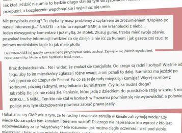 Komentarze na portalu GMP